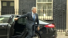 Brandon Lewis arriving at 10, Downing Street earlier.