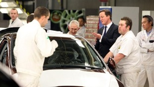Prime Minister David Cameron pays a visit to Honda in Swindon in February 2011.