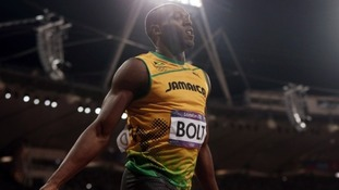 Usain Bolt wins the men's 100m final during the London 2012 Olympic Games