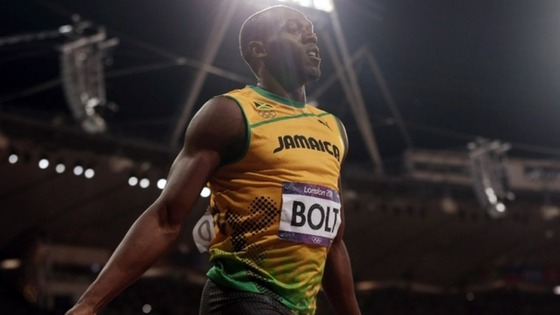 Usain Bolt wins the men&#x27;s 100m final during the London 2012 Olympic Games