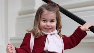 Princess Charlotte pictured ahead of first day at nursery