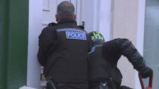Raids took place in Stockton.