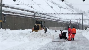 Snow is now being cleared.