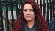 Jayda Fransen appeared before Belfast Magistrates' Court on Tuesday.