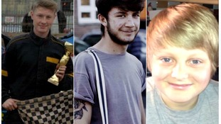 Kyle Warren, Dominic O'Neill and Billy Hines who died last April