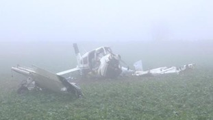 Investigation into light aircraft crash that killed two men