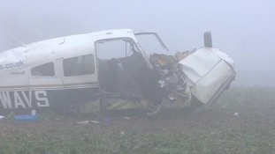 The pilot and passenger died at the scene of the crash.
