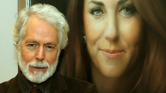 Artist Paul Emsley by his new portrait of the Duchess of Cambridge