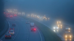 Fog is expected to 'thicken' as the evening wears on.