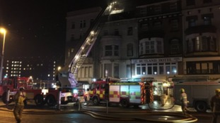 'Suspicious' fire at derelict Blackpool hotel