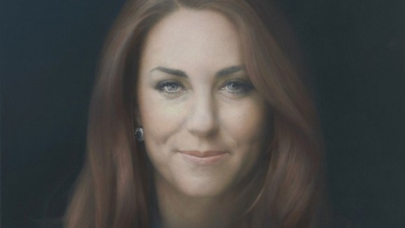 Award-winning artist Paul Emsley's portrait of Kate.