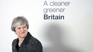 Theresa May stakes claim to green mantle with environment plan