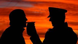 Police breath test
