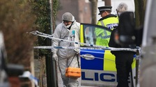 The body was discovered in a garden in Reddish, Stockport