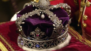 The Queen joked you cannot look down when wearing the Imperial State Crown.