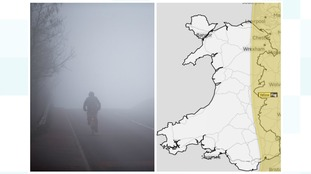 Slower journey times 'possible' with fog warning