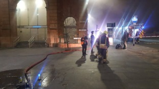 Major blaze at Nottingham railway station is being treated as arson