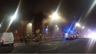 Rail services disrupted after fire at Nottingham station