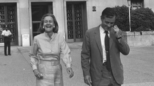 The move brought to prominence Kay Graham, left, America's first female newspaper publisher
