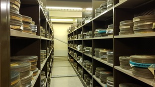 A small section of the archive in Aberystwyth