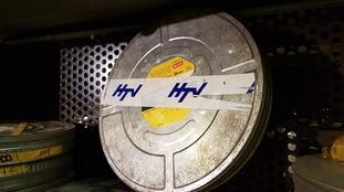 HTV logo film can