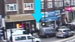 A van is driven at Kamal Ahmed.