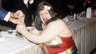 Bella Emberg as comedic crime-fighting star Blunderwoman.