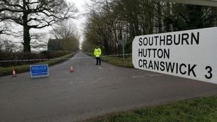 The cordon is on an unnamed road running east of Thornton Lane at one end, and Southburn Road at the other end.