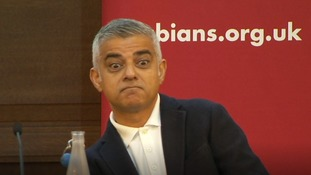 Sadiq Khan keeps calm as Donald Trump 'supporters' try to arrest him