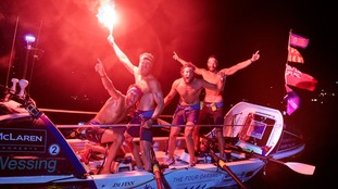 Four friends 'complete record Atlantic rowing crossing'