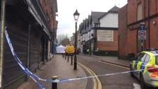 Highfield Street was closed at around 8:30 this morning.