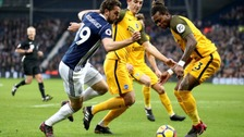 The alleged incident took place during West Brom's 2-0 win against Brighton.