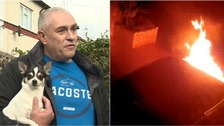 Dog 'saved family from arson attack' as car goes up in flames
