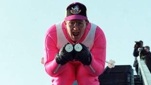 Eddie 'The Eagle' Edwards will show off the results of his tutelage under fellow Olympian Tom Daley,