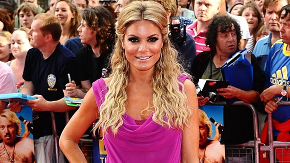TV presenter Charlotte Jackson broke her toe during trials but will still compete.