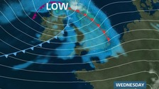 Deep low pressure brings windy weather to Anglia