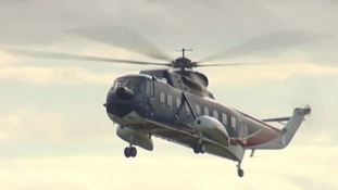 The helicopter service stopped in 2012