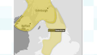 Snow and ice warnings for Tuesday morning