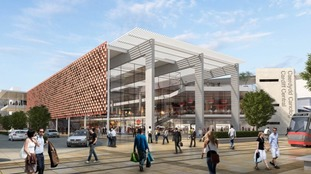 Artist impressions of the south side of Cardiff Central Station