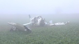 The plane came down near the village of Overbury.