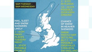 Will you see some snow tomorrow? View our map