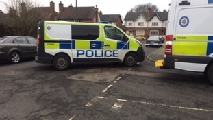 Police cordoned off Willows Road following the stabbing.