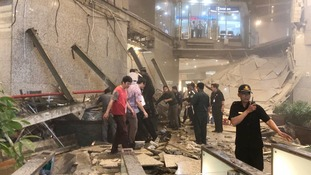 Dramatic floor collapse injures 50 at Jakarta Stock Exchange
