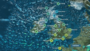 It will be windy for all with gales in the far southwest.