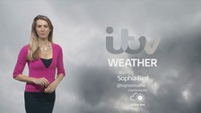 Sunny periods and squally showers, with 70mph winds