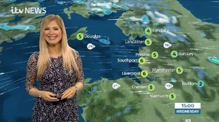 Tuesday weather update. Wintry weather and strong winds ahead