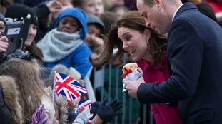 Crowds welcome Prince William and Kate to Coventry