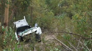 Teenage driver found alive in remote wreck after father hires helicopter and follows a hunch