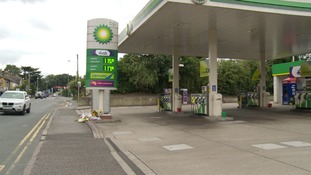 The BP garage in Baddow Road where Mr Pordage was shot
