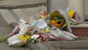 Flowers were left at the scene of the shooting in Chelmsford